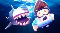 小飞象✘Roblox✘大白鲨模拟器豪华游轮浮出水面! 组队大战鲨鱼! 乐高小游戏
