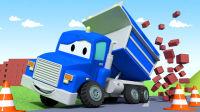 超级变形卡车 第3集 变成翻斗车建筑桥梁