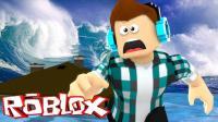 「Roblox海啸灾难模拟器」小黄鸭爆笑大战海啸! 乐高自然灾害海啸专场! 小格解说