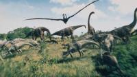 白垩纪恐龙世界动漫 恐龙格斗恐龙大逃亡 特暴龙历险记3 小特暴龙偷吃翼龙蛋被踢进深渊