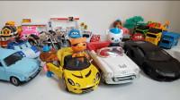 海底小纵队变形警车汽车总动员玩具视频工程车小汽车