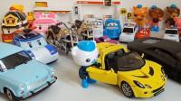海底小纵队变形警车汽车总动员玩具视频2工程车小汽车