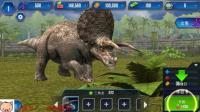 《侏罗纪世界恐龙第1期 新手三角龙的怒吼》儿童游戏 糯米解说