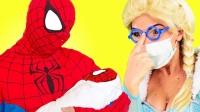 蜘蛛侠打电话叫来蝙蝠侠帮他照顾小蜘蛛侠 搞笑蜘蛛侠来了