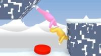 【Z小驴 XY小源】超级兔子人~冰雪地图~滑翔的冰块真刺激!