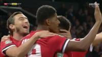 联赛杯-拉什福德双响马夏尔破门 曼联主场4-1伯顿