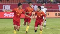 中国U19小将叶尔凡火了! 惊艳爆射+华丽空翻庆祝, 满分!