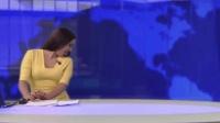 国外主持人正在新闻直播, 没想到跑进来一只大黑狗
