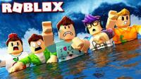 「Roblox洪水逃生模拟器」超紧张洪水上涨逃生! 乐高水下逃生魔术! 小格解说
