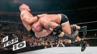 WWE战神高柏的十个恐怖场面 飞冲肩猛到爆 让猛兽大布怀疑人生