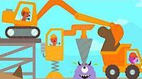 赛哥迷你卡车与挖掘机21期: 工程车建造城堡