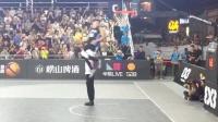 中国最强扣将致敬阿隆戈登!单臂接球转身360度抡扣!