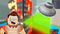 「Roblox超级自然灾害模拟器」外星飞碟摧毁大楼! 闪电风暴超级岩浆! 小格解说