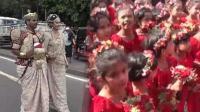 新人婚礼请250个小花童拉婚纱裙摆 新娘恐要吃10年牢饭