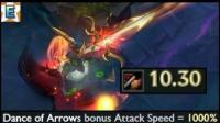 lol英雄联盟永猎双子-千珏用新符文加4个小时攻速叠到10.30会怎么样?