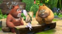 熊出没之熊熊乐园 雪岭熊风夺宝熊兵熊大熊二切水果第169期筱白解说