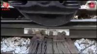 摄影机近距离记录火车行驶对铁轨产生的压力到底有多大