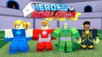 【Roblox超级英雄模拟器】山寨绿巨人大战假面超人! 乐高蜜蜂怪物抢银行! 小格解说