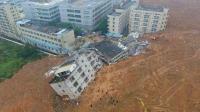 深圳盐田区盘山公路出现滑坡, 无人被困。