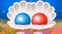 贝壳色彩珍珠儿童英语ABC少儿英语ABC国庆节快乐