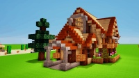 minecraft个人创意设计: 9X7X12木屋