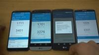 LG G6与 LG G5 与 LG G4 与 LG G3 速度测试对比
