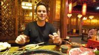 吃货常乐YouTube粉丝过百万, 在四川吃火锅庆祝, 感谢中国美食!