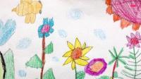飞童亿佳儿童绘画学生作品赏析: Lily《蜡笔花园里的花》