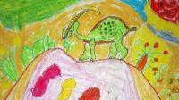 飞童亿佳儿童绘画学生作品赏析: 博涛《副栉龙》