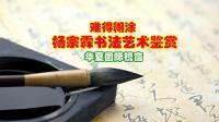 难得糊涂---杨宗霖书法艺术鉴赏(一)【华夏国际视窗】