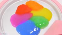 铁泥冰淇淋彩虹色水粘土冻结 手工DIY 颜色泥Orbeez玩具【俊和他的玩具们