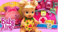 芭比娃娃玩具打针视频 做医生 玩具娃娃视频