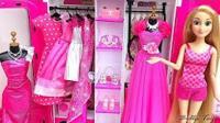 芭比娃娃衣服 长发公主和埃而莎时尚连衣裙