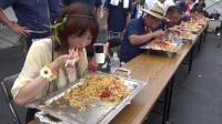 日本大胃王安吉拉参加炒面比赛, 最后为了赢太凶了