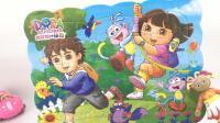 花园宝宝拼爱探险的朵拉迪亚哥拼图玩具