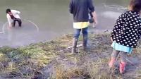 发现河里有大鱼洄游, 村里捕鱼高手集体出动, 这场面简直太壮观了!