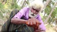 印度老人大口吃肉大口吃洋葱! 这生活好幸福!