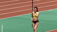 日本跳高美女运动员今野美穂, 这一跳简直可惜了这么好的身材! 改行吧