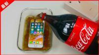 「果粉堂」iphone8 与可乐浸泡一周后 表明长满了气泡