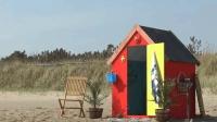"""这沙滩木屋, 底下是个""""迷你城堡"""", 怎么做到的"""