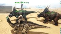 方舟生存进化 多人生存带领恐龙安营扎寨06