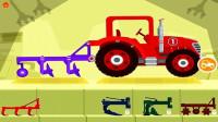 挖掘机视频工程车★玩具车挖土机消防车筱白解说汽车总动员小恐龙拖拉机遥控车搅拌机表