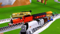 托马斯和他的朋友们魔幻铁路筱白解说托马斯和培西赛车小火车玩具游戏
