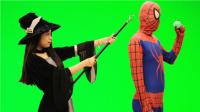 倒霉的蜘蛛侠 第62期 搞笑蜘蛛侠现实版艾莎公主女巫小丑绿巨人