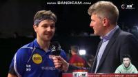 乒乓球世界杯半决赛, 马龙3: 4不敌波尔, 赛后波尔的采访!