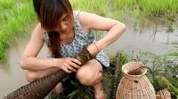 柬埔寨女孩嫁到中国来, 还是改不了爱捉鱼的习惯