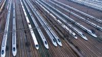"""中国最大的高铁基地, 2100亩大, 像地面的""""火箭库"""""""