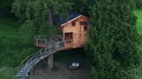 老司机打造豪华树屋, 耗资100万全木材建造, 看了后人人都想住