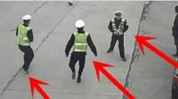 路口左转查车, 视频却记录下可怕一幕