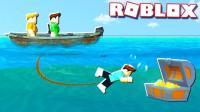 小飞象✘Roblox✘寻宝模拟器海贼王造船无敌战舰! 最终找到大宝藏! 乐高小游戏